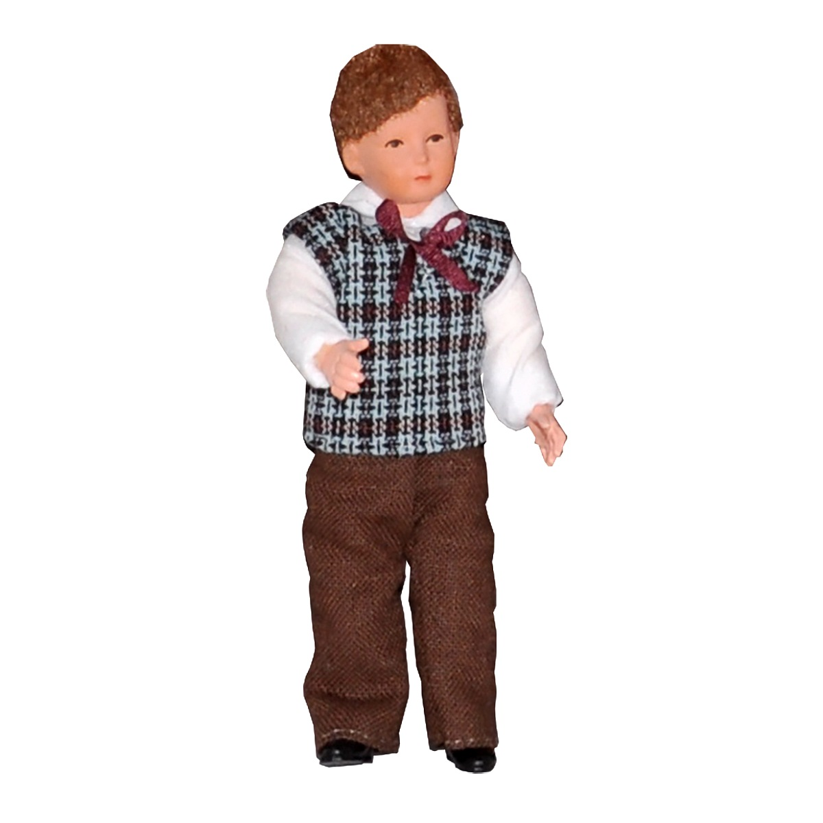 Boy in a chequered pullover