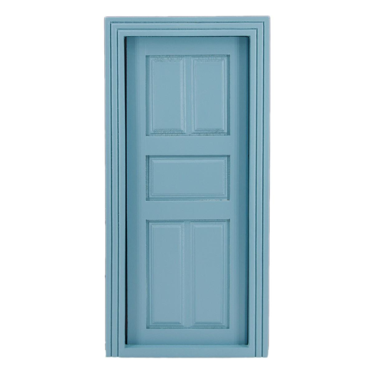 Paneel-Tür, blau