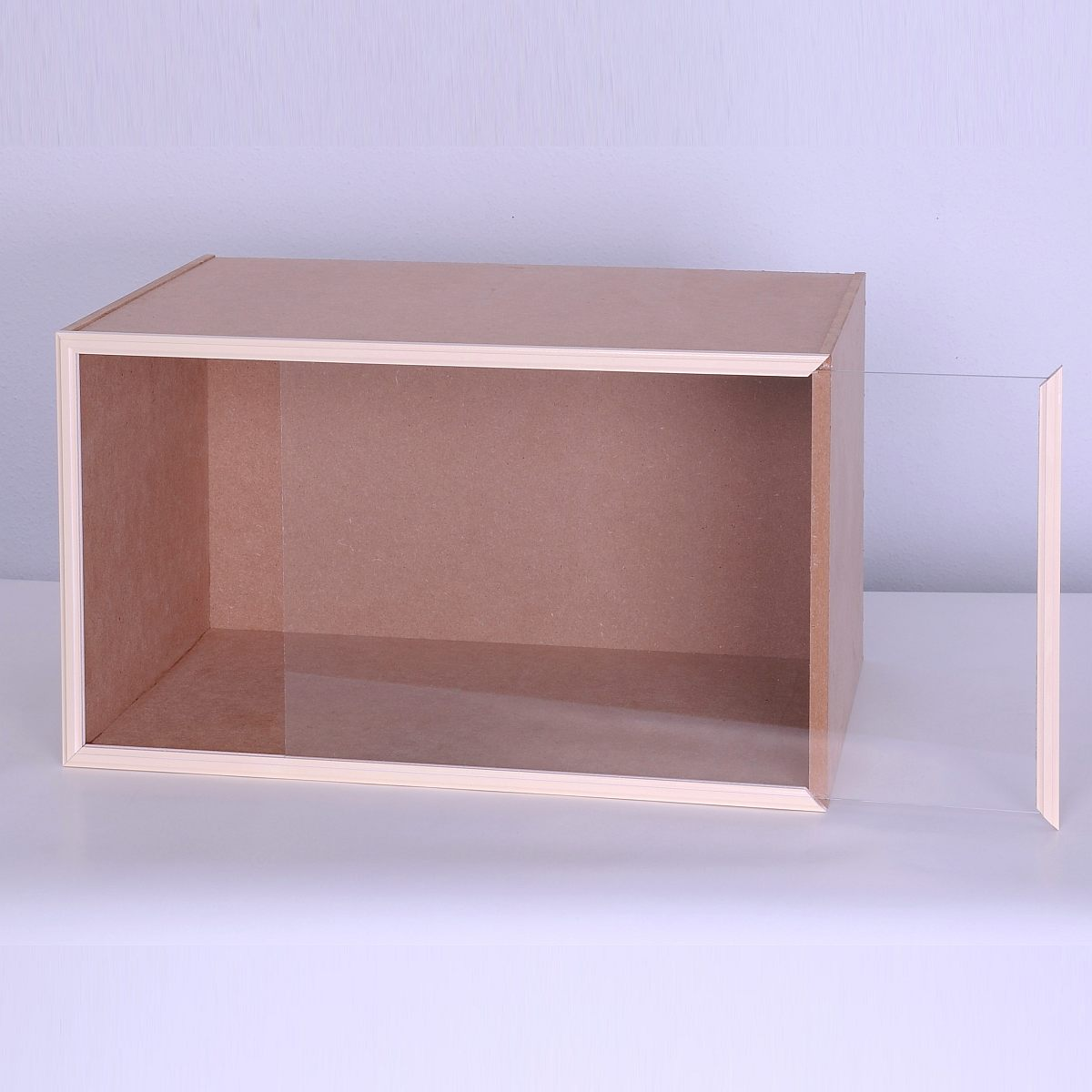 Module Box with front glass panel