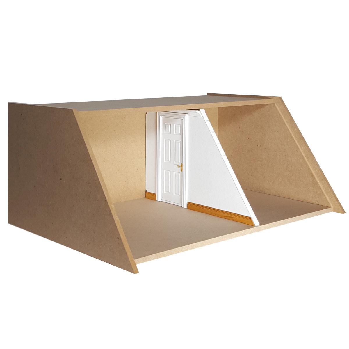 Trennwand mit Türausschnitt für MODUL BOX Dachgeschoss
