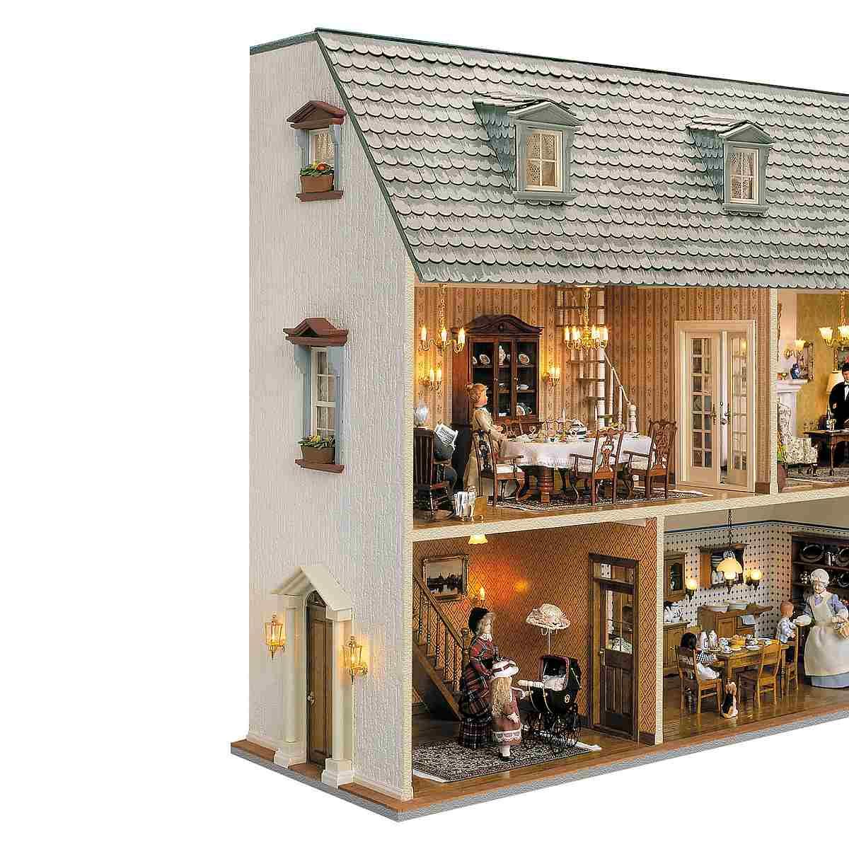 Bauelemente Set - Wandhaus mit abnehmbarem Dach