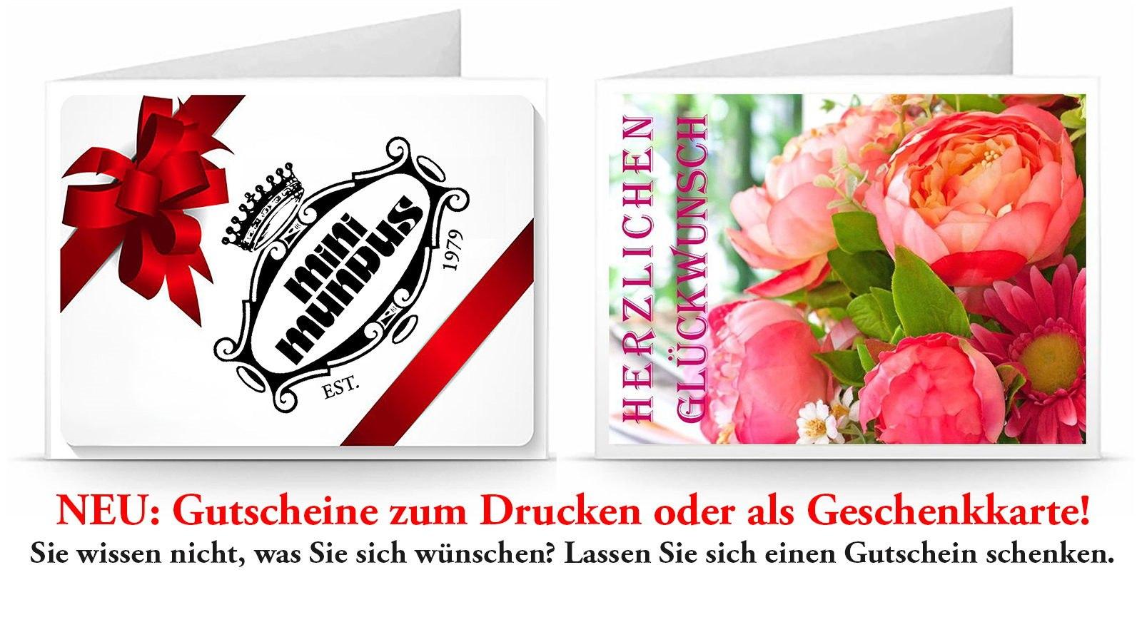 Schenken leicht gemacht: Der Mini Mundus Gutschein im Wert von 15 - 250 Euro