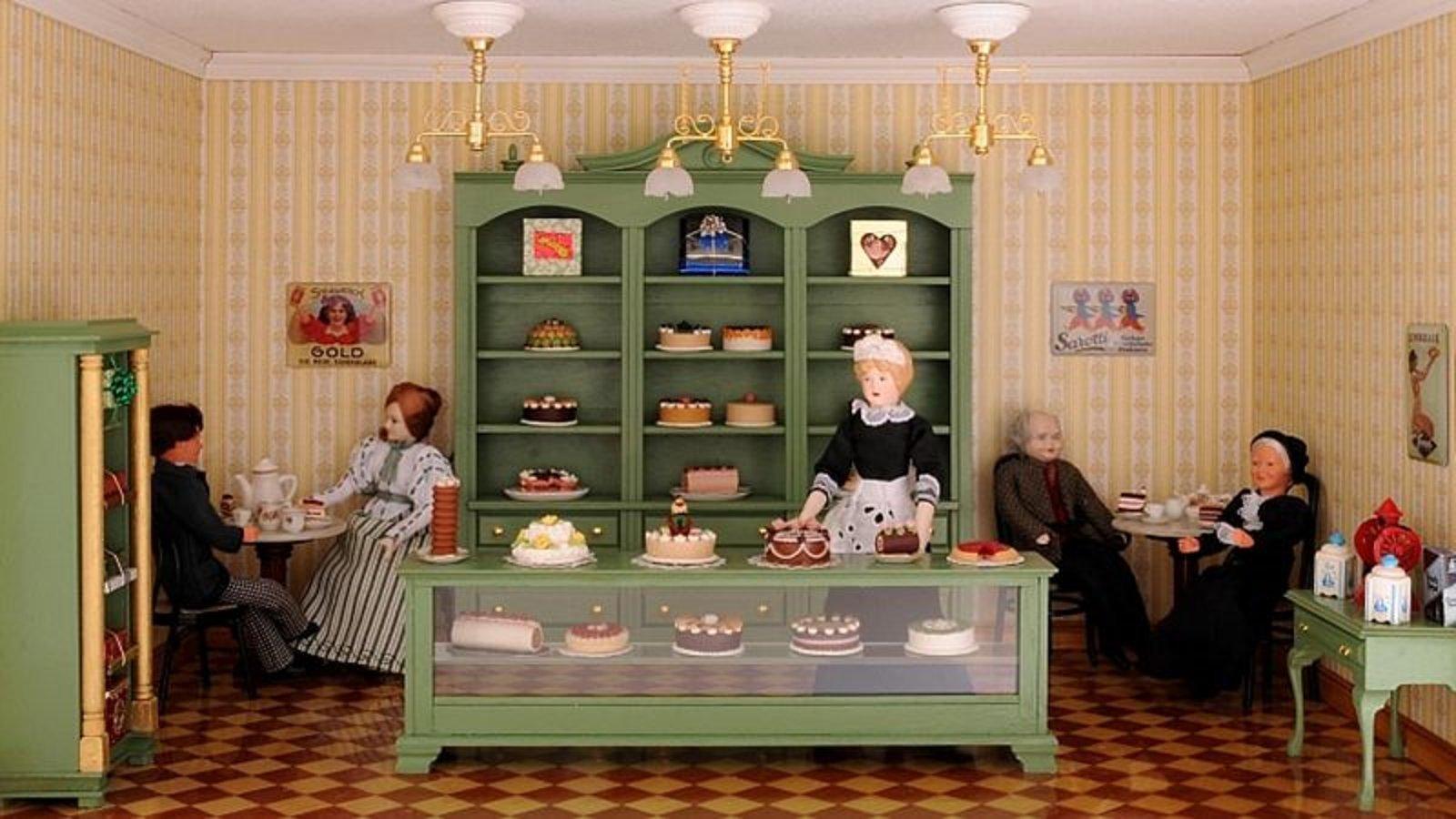 Bausatz-Set - Café und Konditorei - inklusive Lackspray in Reseda-Grün!